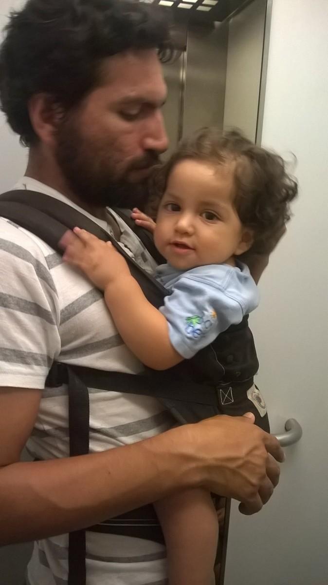 Cuando el portear para papá no es sólo cosa de fines de semana o para paseos.